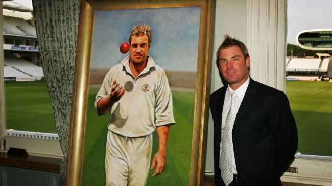 Warne's portrait at Lord's. Source: News Corp