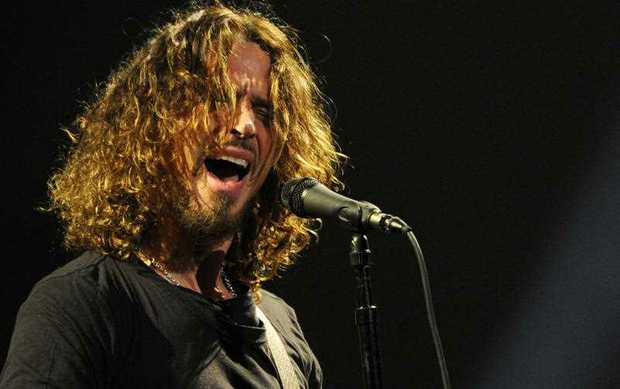 Chris Cornell of Soundgarden performs during the band's concert at the Wiltern in Los Angeles.  (Photo by Chris Pizzello/Invision/AP, File)