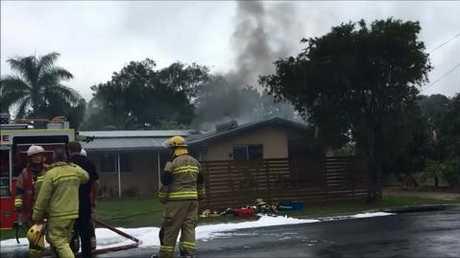 Crews bring a house fire in Urangan under control.