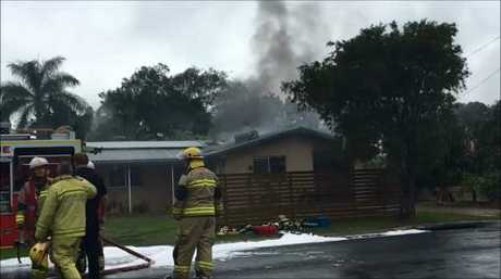 Crews bring a house fire in Urangan under control.