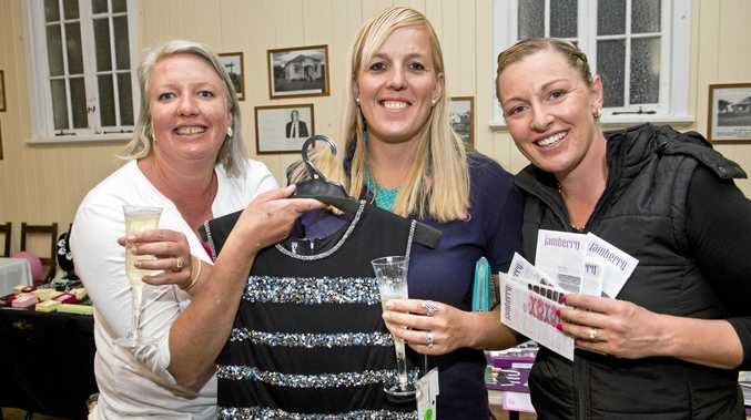 GETTING TOGETHER: Catching up at the Blush event are (from left) Belinda Bell, Kirsten Atwell and Shannon Priebbenow.