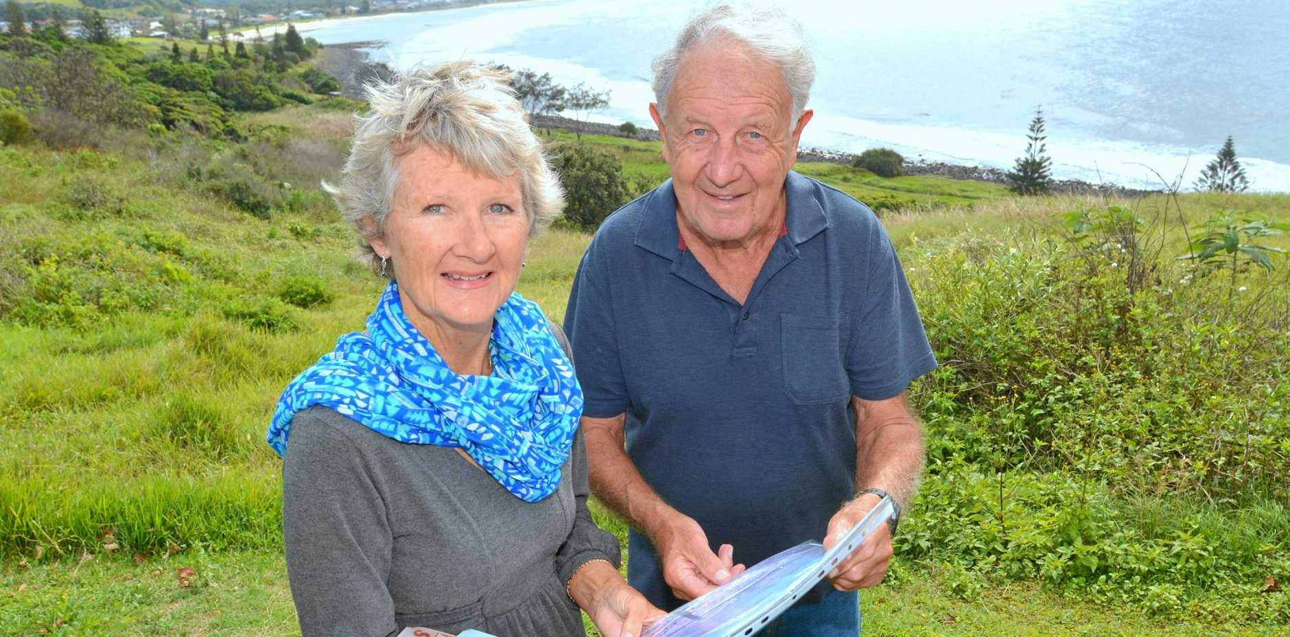 Lennox Head Heritage Committee convenor Robyn Hargrave and member Malcolm Milner record the changes in their seaside village.