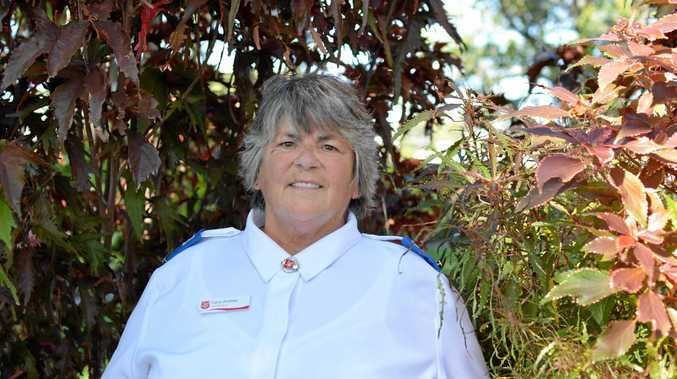 LOVES TO HELP: Salvation Army volunteer Carol Andrew has found home in the Lockyer Valley.