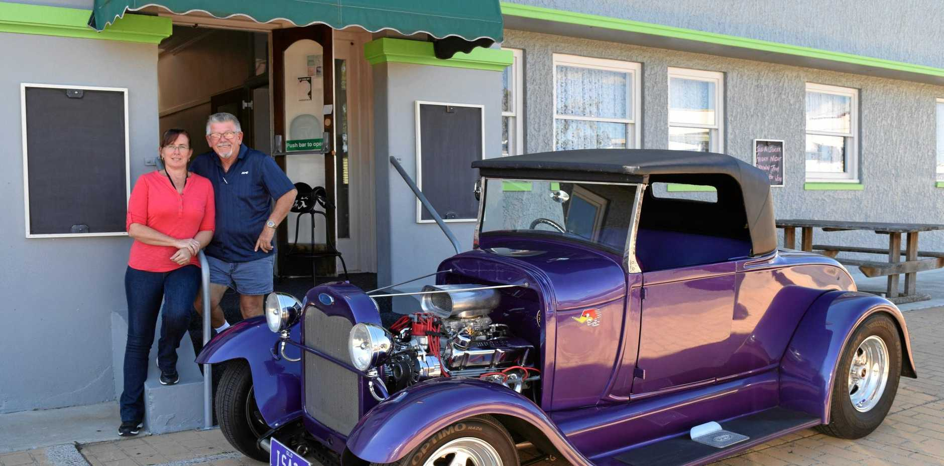 NEW FACES: Kerry and Danny Nevins are hoping to promote his love of hot rods into an event for Biggenden.