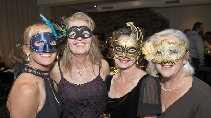 Having a great night are (from left) Rachael Brighton, Chris McVeigh, Louise Alexander and Janice Wheeler at the National Conservatoire Ballet Company masquerade ball fundraiser for six students going to Europe, Friday, May 12, 2017.