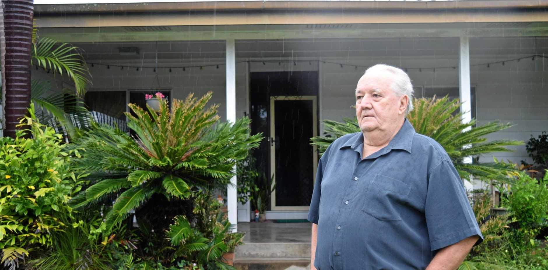 Bob May's East Mackay home has been classified as being in a flood inundation zone but in the past 40 years it has never been flooded.