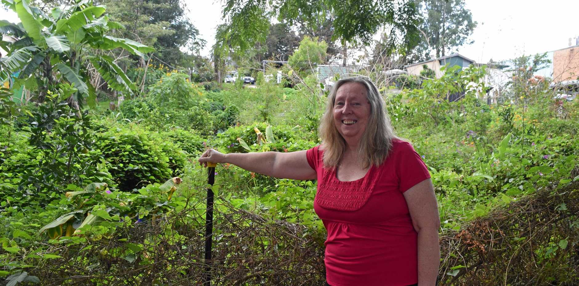 ON SITE: Margaret McKenzie inspects the Bicentennial Lane site of a proposed small home.