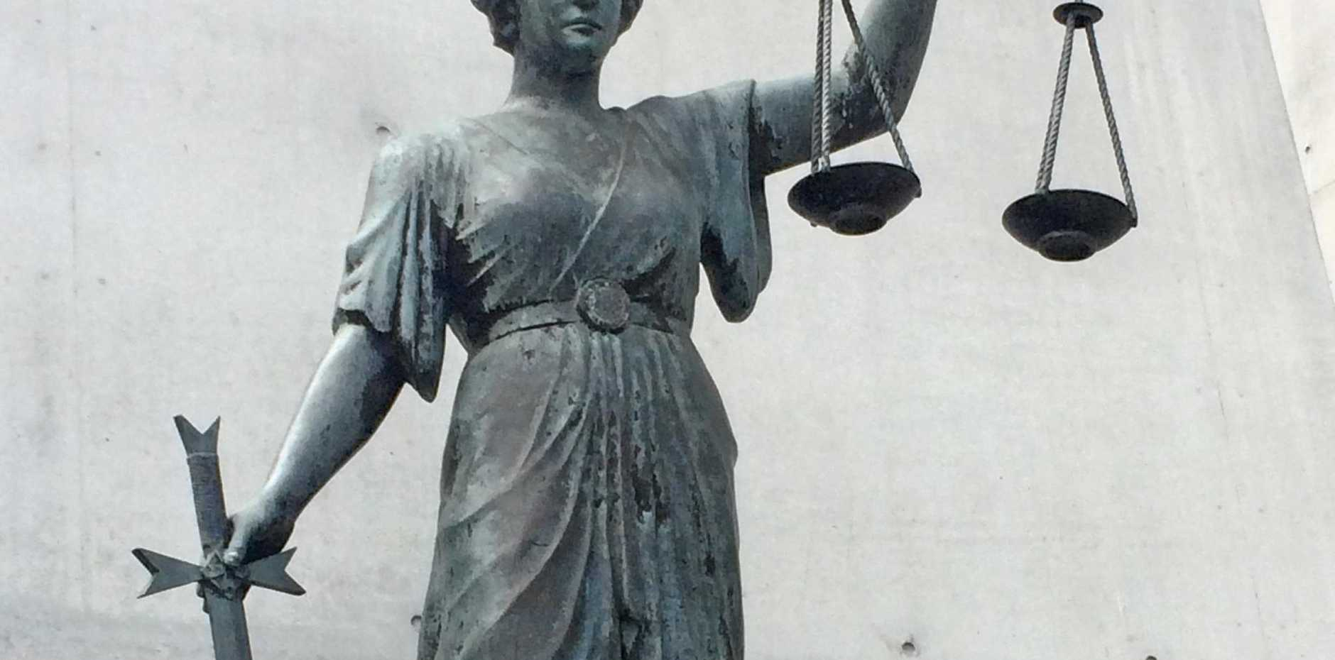The Greek Goddess of Justice, known as Themis, in the Brisbane courts precinct.
