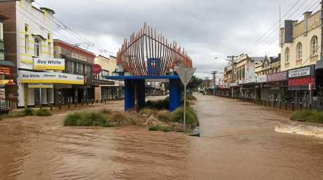The recent floods in the Lismore CBD