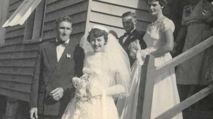 Bill and Greta Thomas on their wedding day, May 18, 1957.