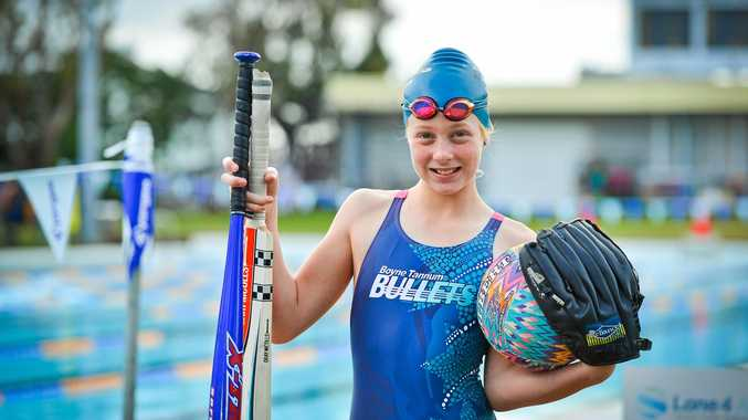 BATS AND BALLS: But swimming it will be for Boyne Island athlete Sally Vagg.