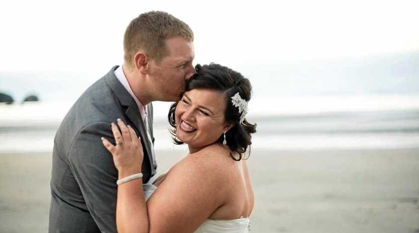 NEWLYWEDS: Jacquie and Aidan Eggins met through mutual friends and soon fell in love.