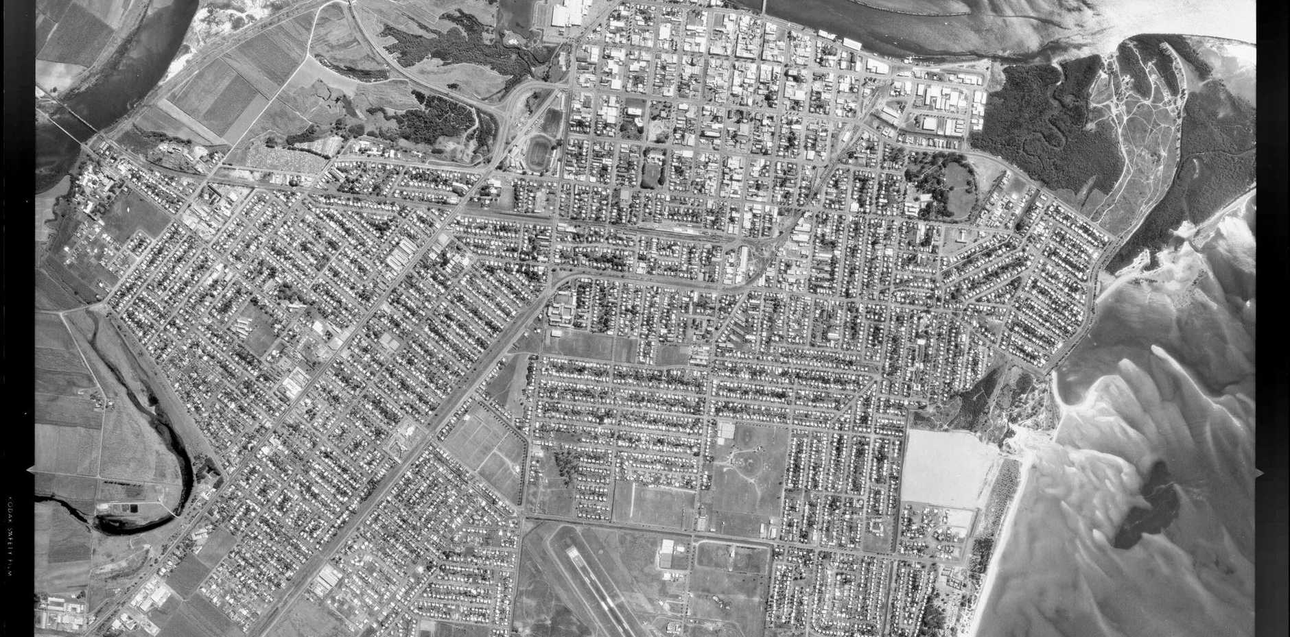 An aerial shot of Mackay from September 14, 1986.