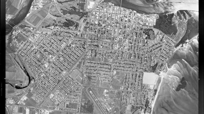 An aerial shot of Mackay from September 14, 1986.