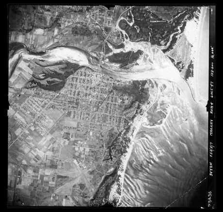 An aerial shot of Mackay from October 6, 1947.
