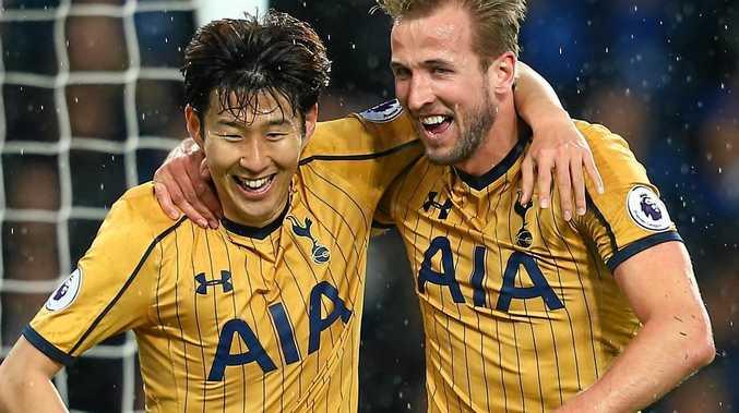 Tottenham goal scorers Son Heung-min (left) and Harry Kane.