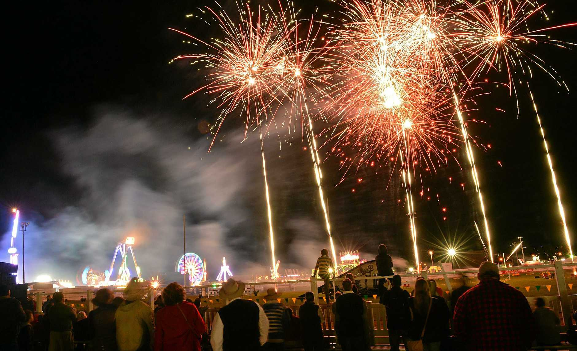PROUD DISPLAY: Fireworks at this year's Gympie Show.
