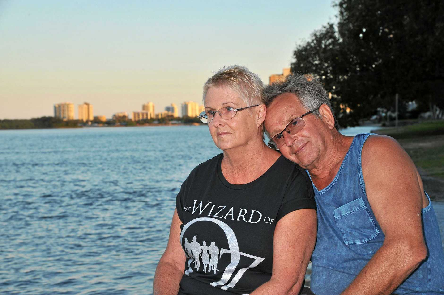 Jenny and Dieter Gass from Latrobe Valley, Victoria had been holidaying for three weeks in their caravan before the sinkhole ruined everything.