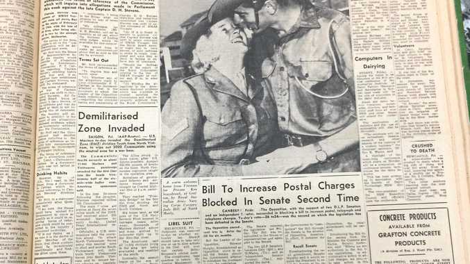 Front page of The Daily Examiner, May 20 1967