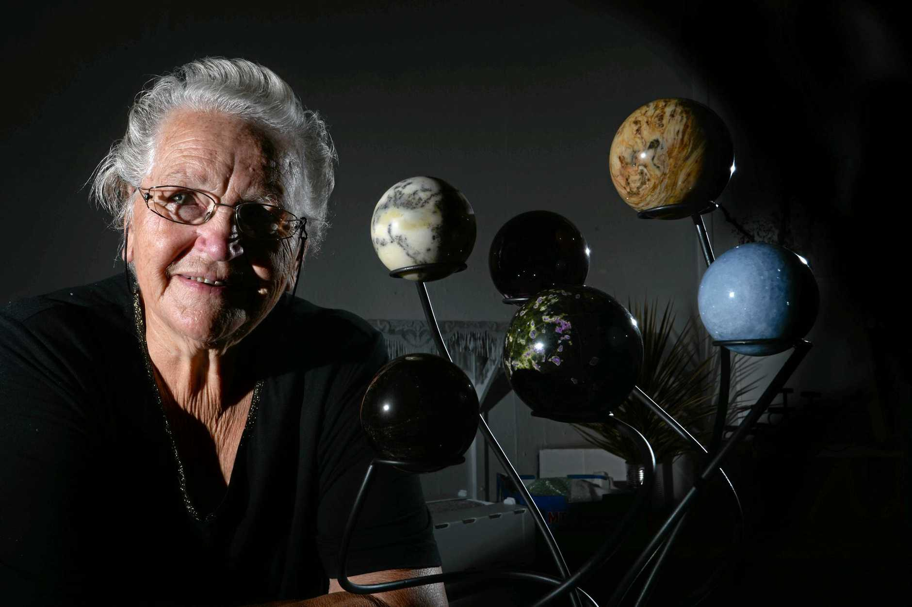 ROCKING IT: Lismore Gem and Lapidary Club committee member Val Armstrong is passionate about rocks, minerals and crystals.