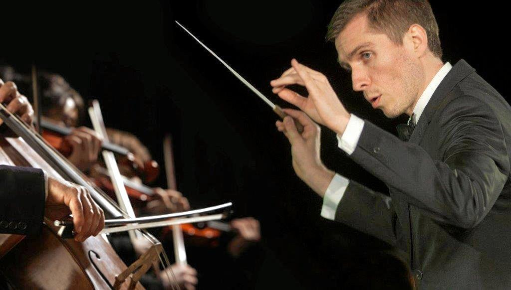 FINE SHOW: Ipswich City Orchestra Conductor Patrick Burns in action.