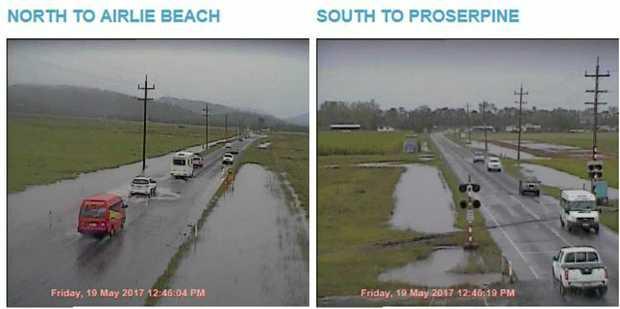 Roads are still open despite heavy rain in the Whitsundays.