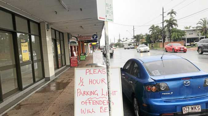 It was left to businesses to try to enforce parking limits.