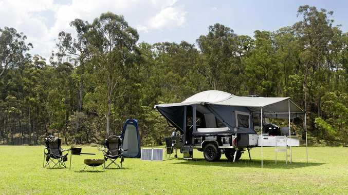 Trackabout Off Road Campers' new style touring tent, ready in just three minutes.
