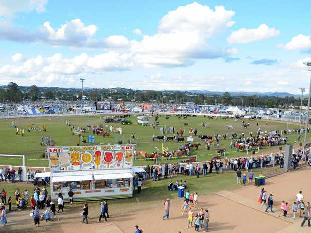 FINER DAYS: The Gympie Show Grand Parade, cancelled today because of inclement weather, has been an important feature of previous shows.