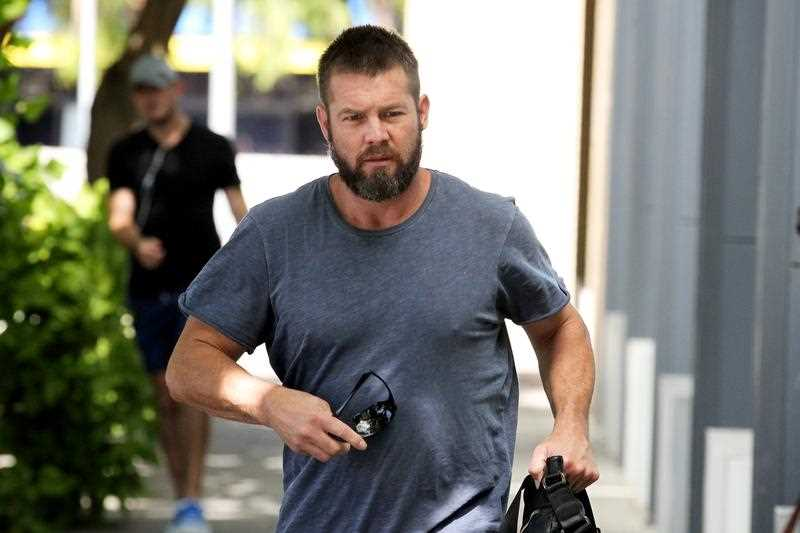 Former West Coast Eagles AFL player Ben Cousins arrives at the Fremantle Magistrates Court