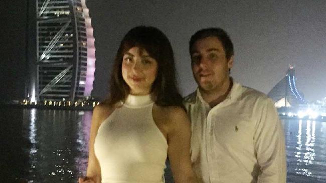 Toni Brady and Adam Cranston in Dubai.