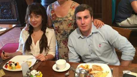 Toni Brady and Adam Cranston, together in Dubai.