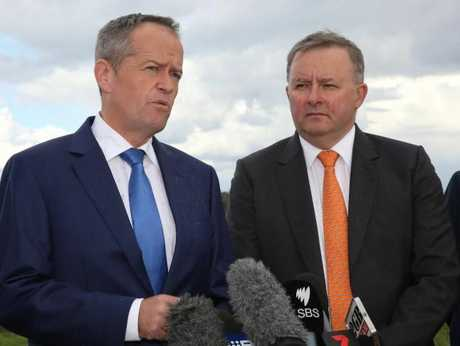 Opposition leader Bill Shorten and Anthony Albanese this month.