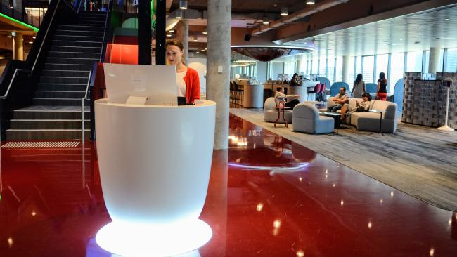 PwC's Sydney office features a range of collaborative spaces and no assigned desks.