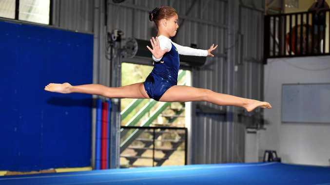Wide Bay Gymnastics Club medal carnival - Level three's Rollea Clarke.