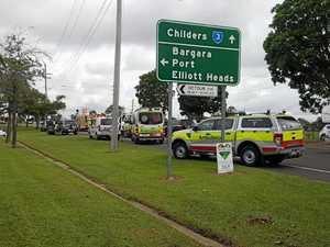 Two elderly women taken to hospital after three-car crash