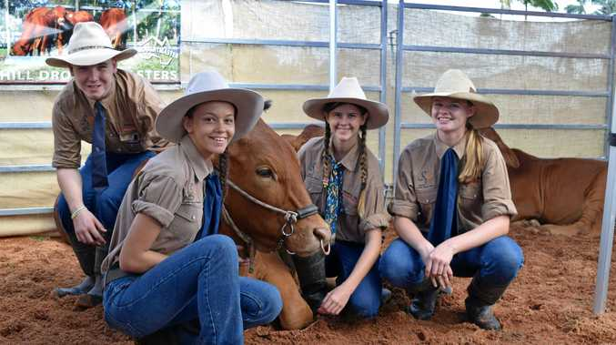 Agriculture students from Mackay Christian College. Left: Bailey McQuaker, Natasha Warry, Haylee Connal and Maddison Hopf.