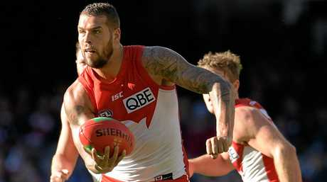 Lance Franklin of the Swans.