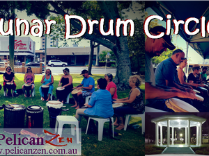 All welcome to join us for a night of sharing rhythm under the moon.