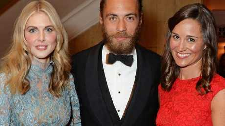 Donna Air (L) will attend as James Middleton's plus one.