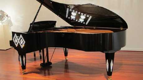 The $US1.2 million limited edition crystal-encrusted grand piano was on the wish list.
