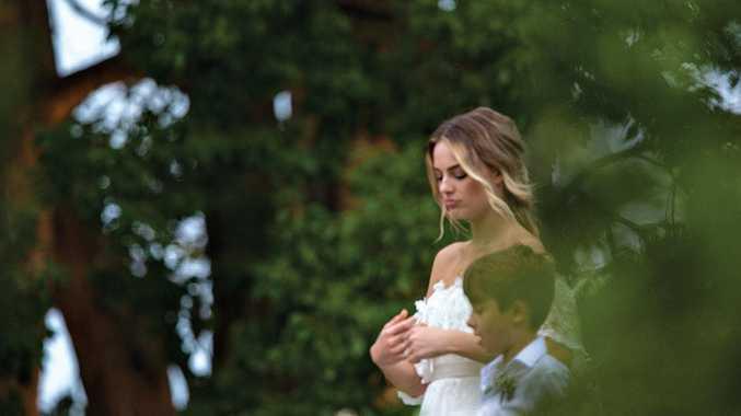 Margot Robbie on her wedding day in the Byron hinterland.