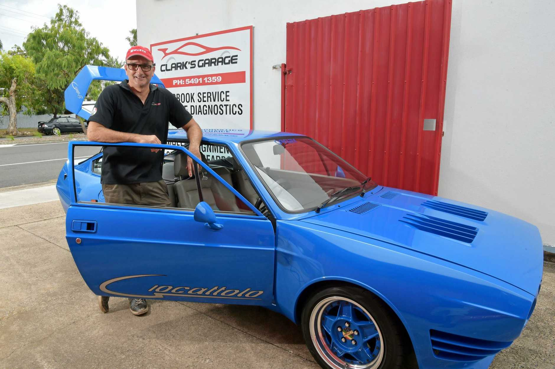 PRECISION ENGINEERING: Jason Overland owns a Giocattalo, a rare Australian-built sports car and is organising a reunion and charity fundraising event.