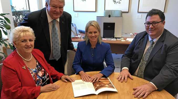 Capricornia MP Michelle Landry, Flynn MP Ken O'Dowd, Minister for Regional Development Fiona Nash