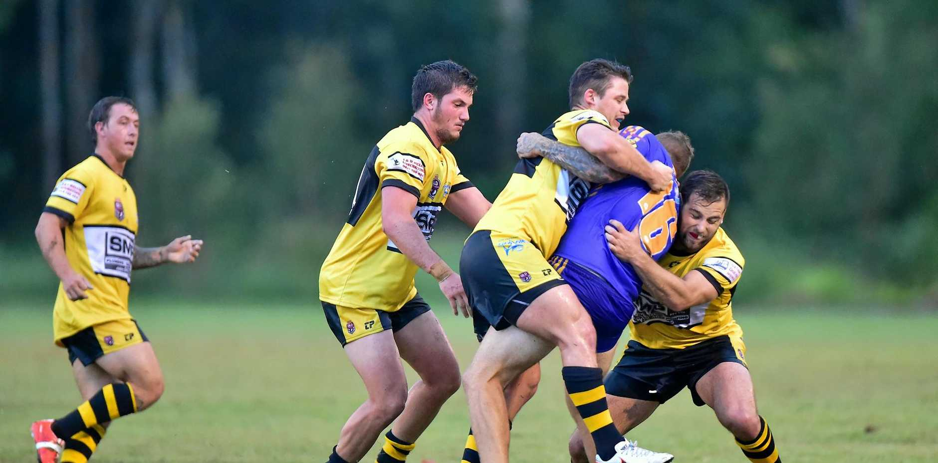 DIDN'T HAPPEN: A match between Noosa and Caloundra last year. They were due to collide on Saturday but the Pirates could not field a competitive team.