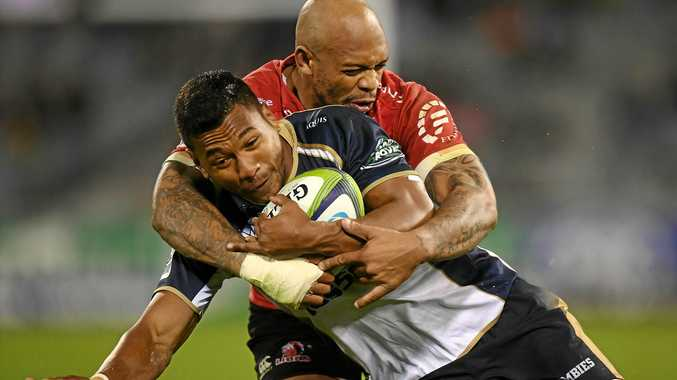 HELPED END DROUGHT: Aidan Toua scored a late try to help the Brumbies to a win over the Kings.