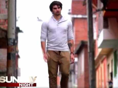 Scott Broadbridge as he appeared in a promotional video clip from Seven's Sunday Night.