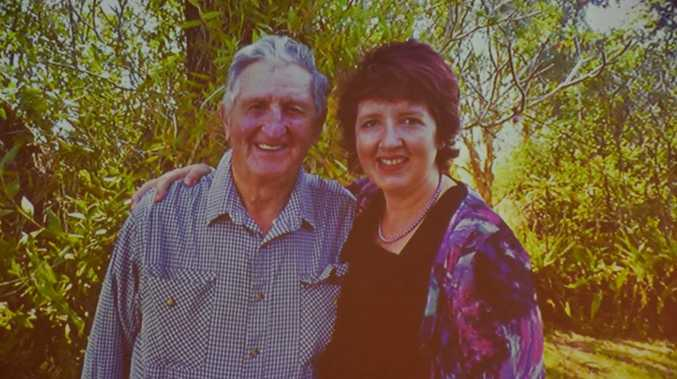 Gordon Simpson pictured with his daughter, Maroochydore MP Fiona Simpson.