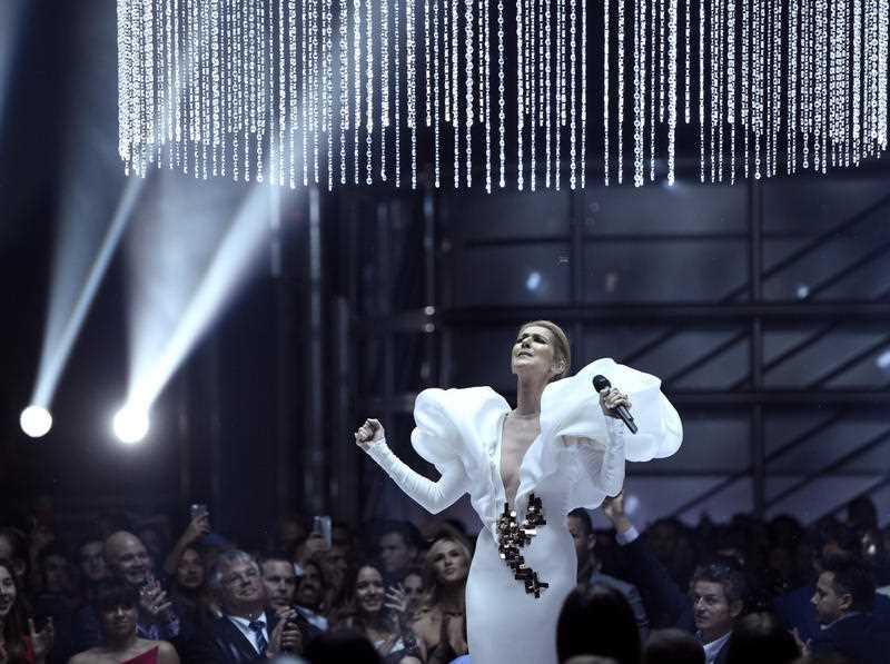 Celine Dion performs