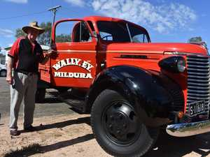 John Ey with his fully restored 1939 Chev Maple